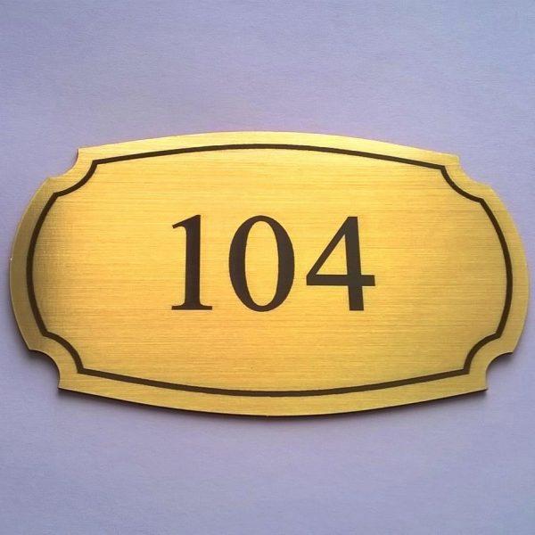 Табела за хотелска врата от месинг, табели за хотели