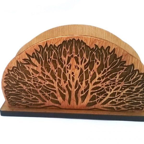 Дървен салфетник