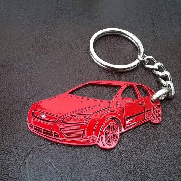 Поръчков ключодържател за Ford Focus red