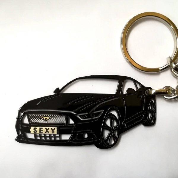 Поръчков ключодържател за Ford Mustang black