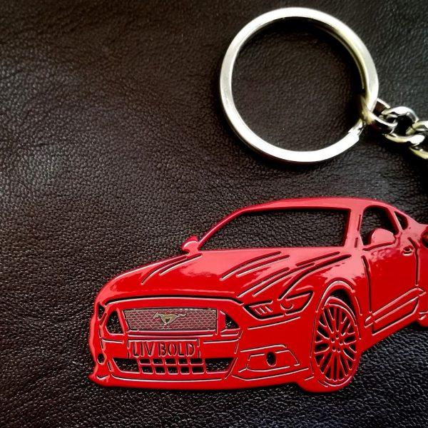 Поръчков ключодържател за Ford Mustang red