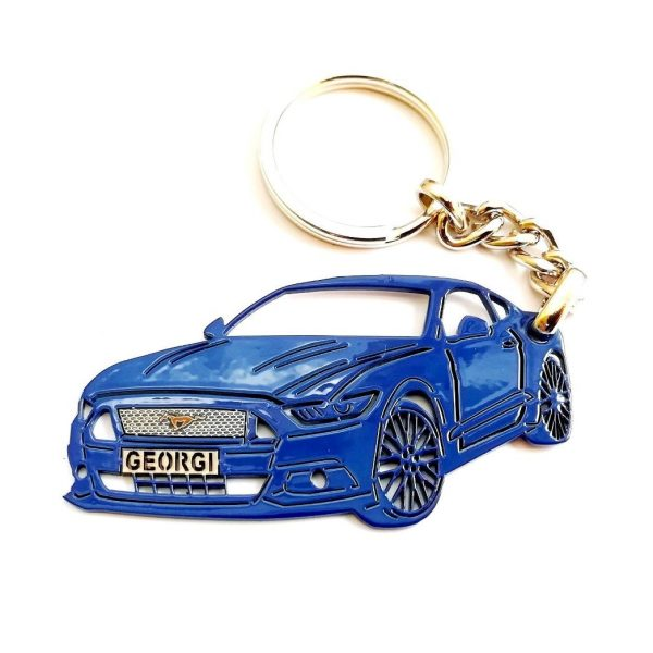 Поръчков ключодържател за Ford Mustang blue
