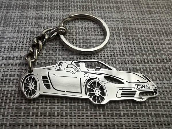 Поръчков ключодържател за Porsche boxster от стомана