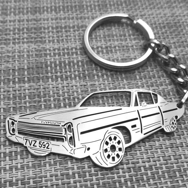 1968 Plymouth Fury III keychain