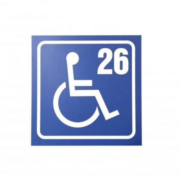 Табела за паркинг, обозначаваща място за инвалиди